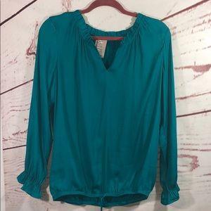 Dolan left coast collection long sleeve blouse m